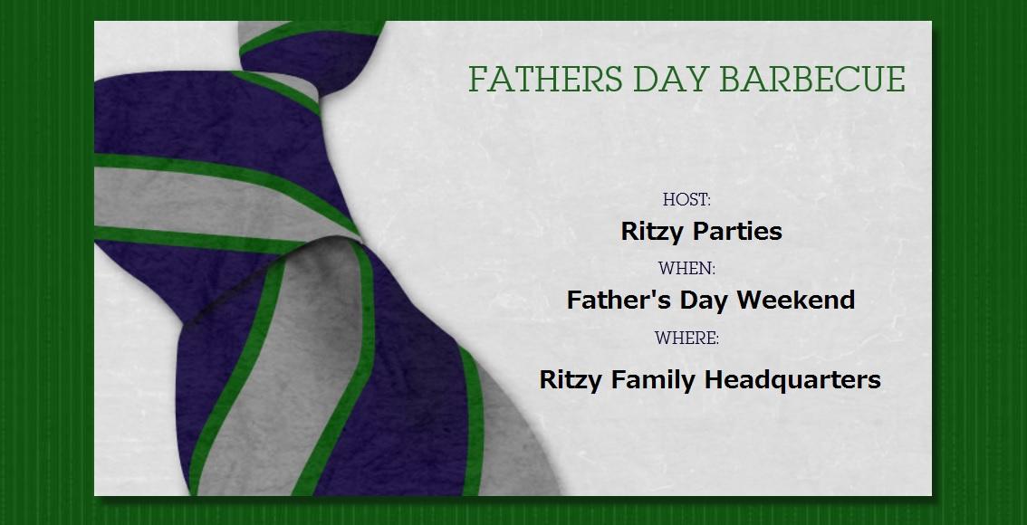 Evite fathers day invite