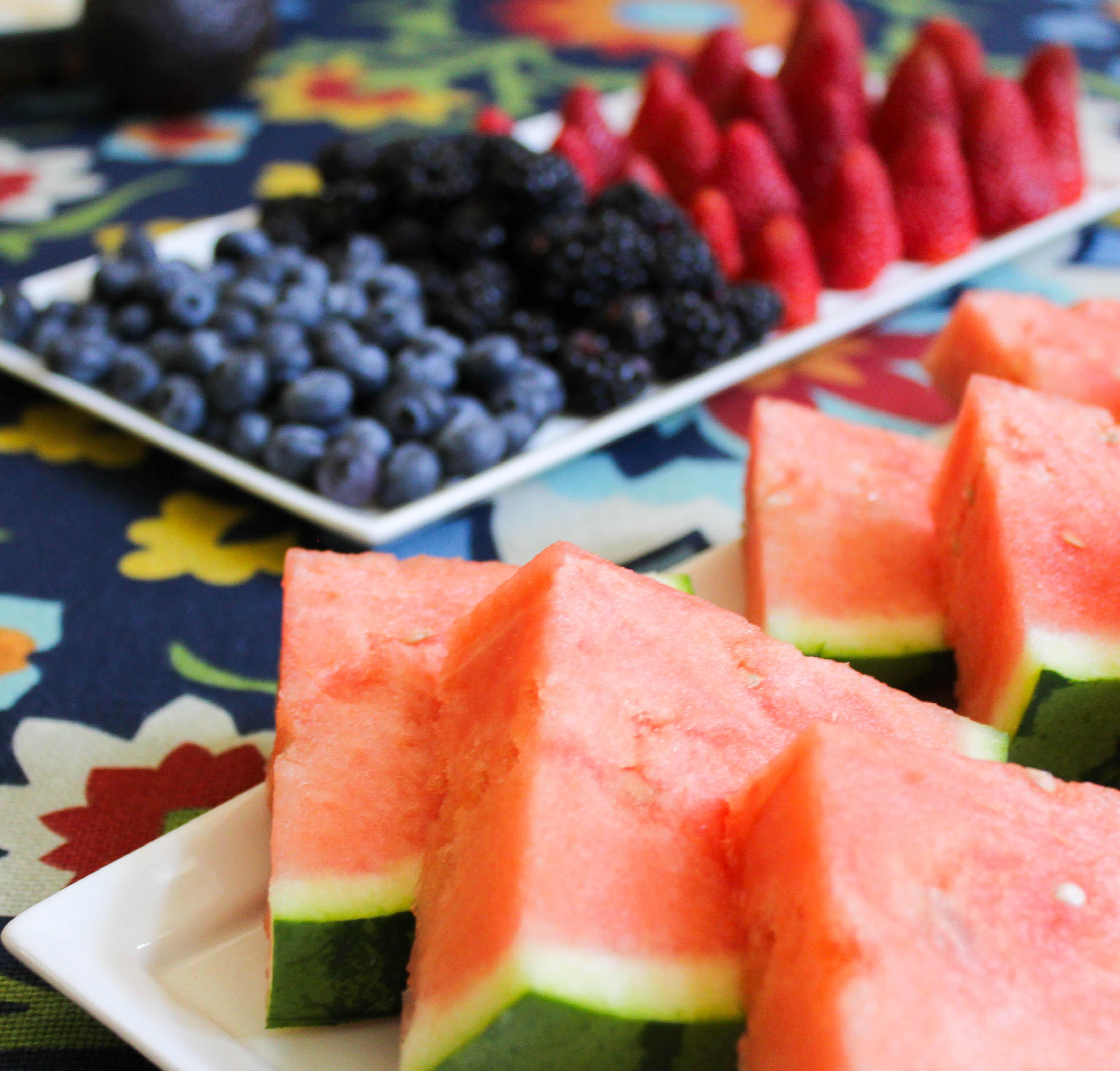 fruit platter berries watermelon slices menu summer