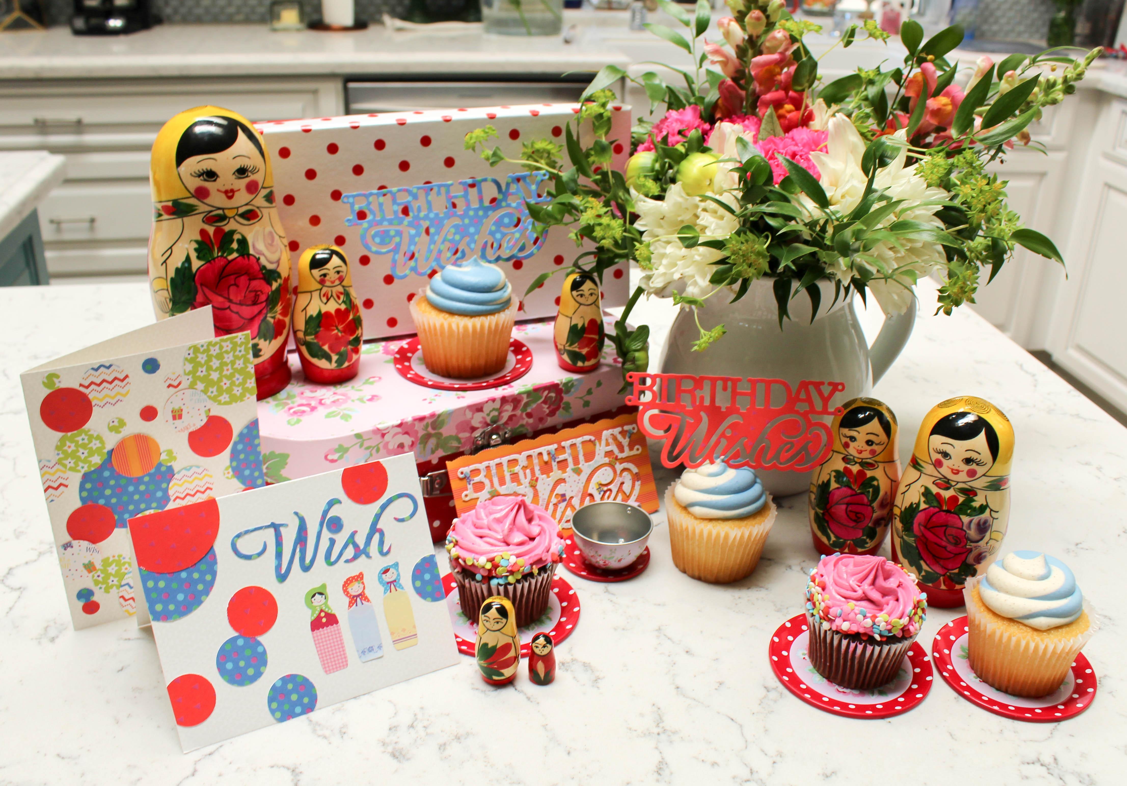 matroyshka nesting dolls where women cook sizzix dies birthday wishes cake topper-36