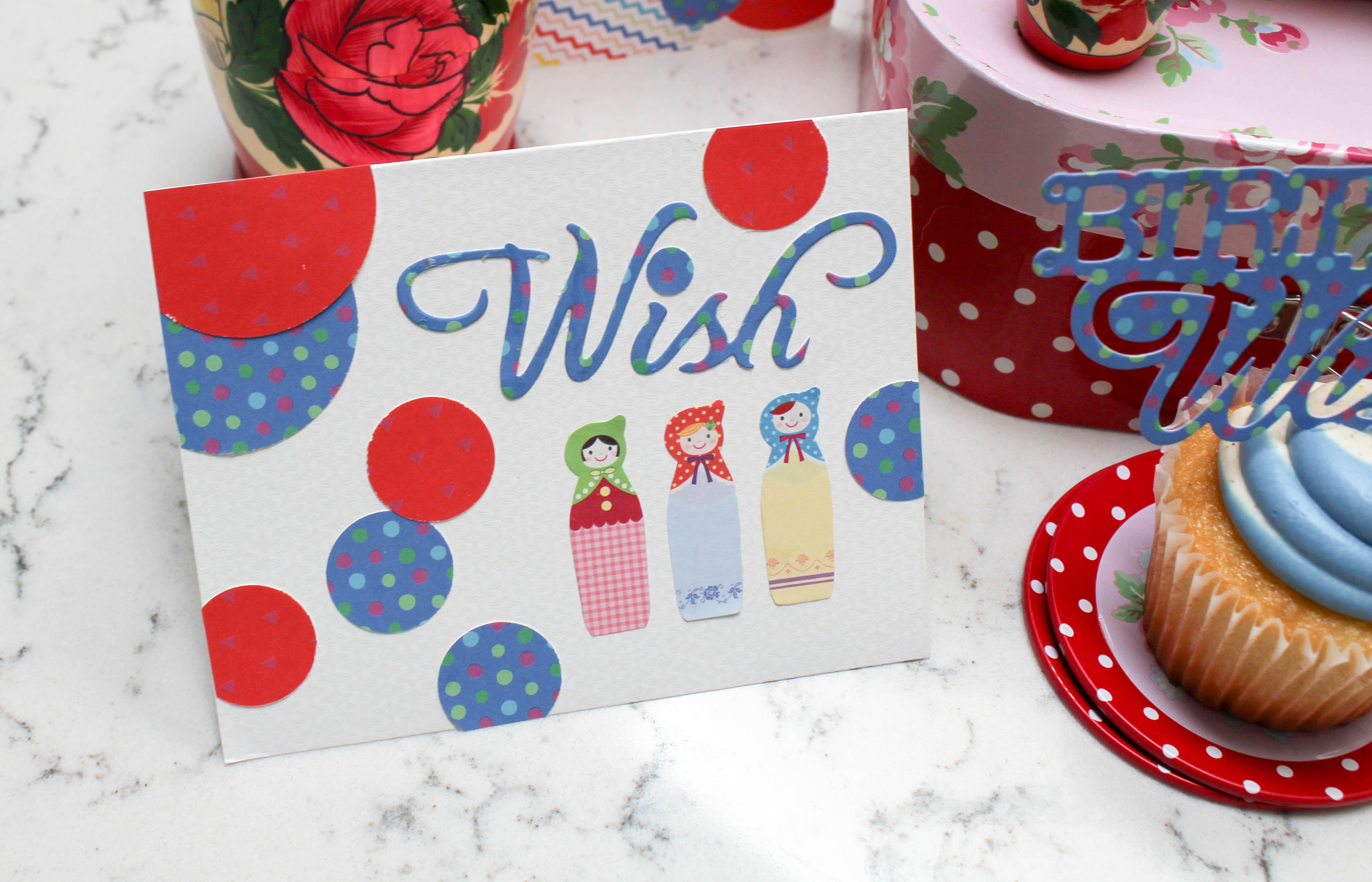 matroyshka nesting dolls where women cook sizzix dies birthday wishes cake topper-5