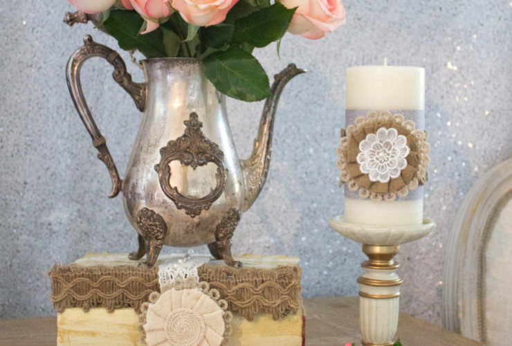 Easy DIY Burlap and Lace Wedding Decor