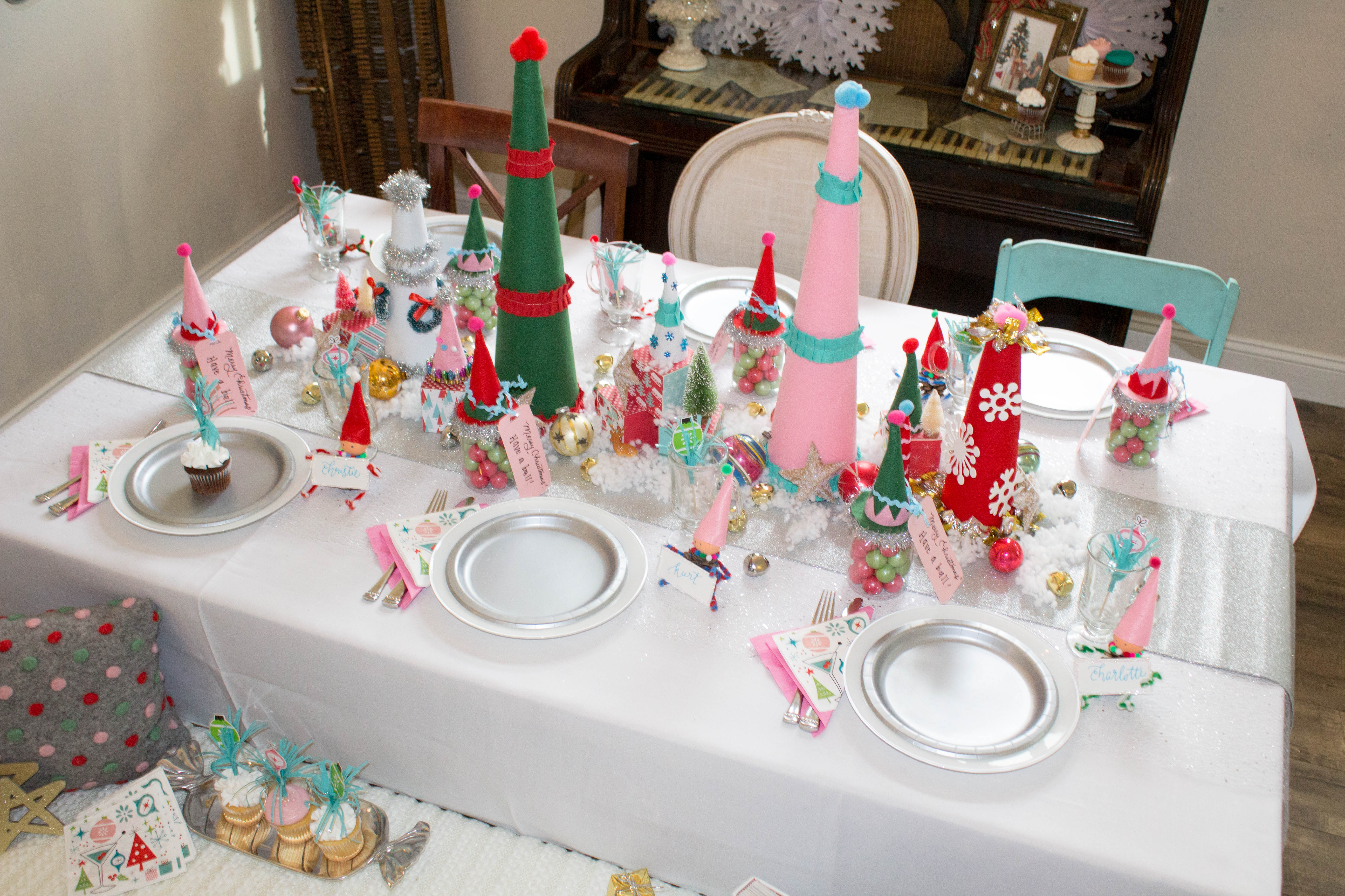 Gnome Elf Party Table Christmas Table Decorating Ideas 7 Ritzy