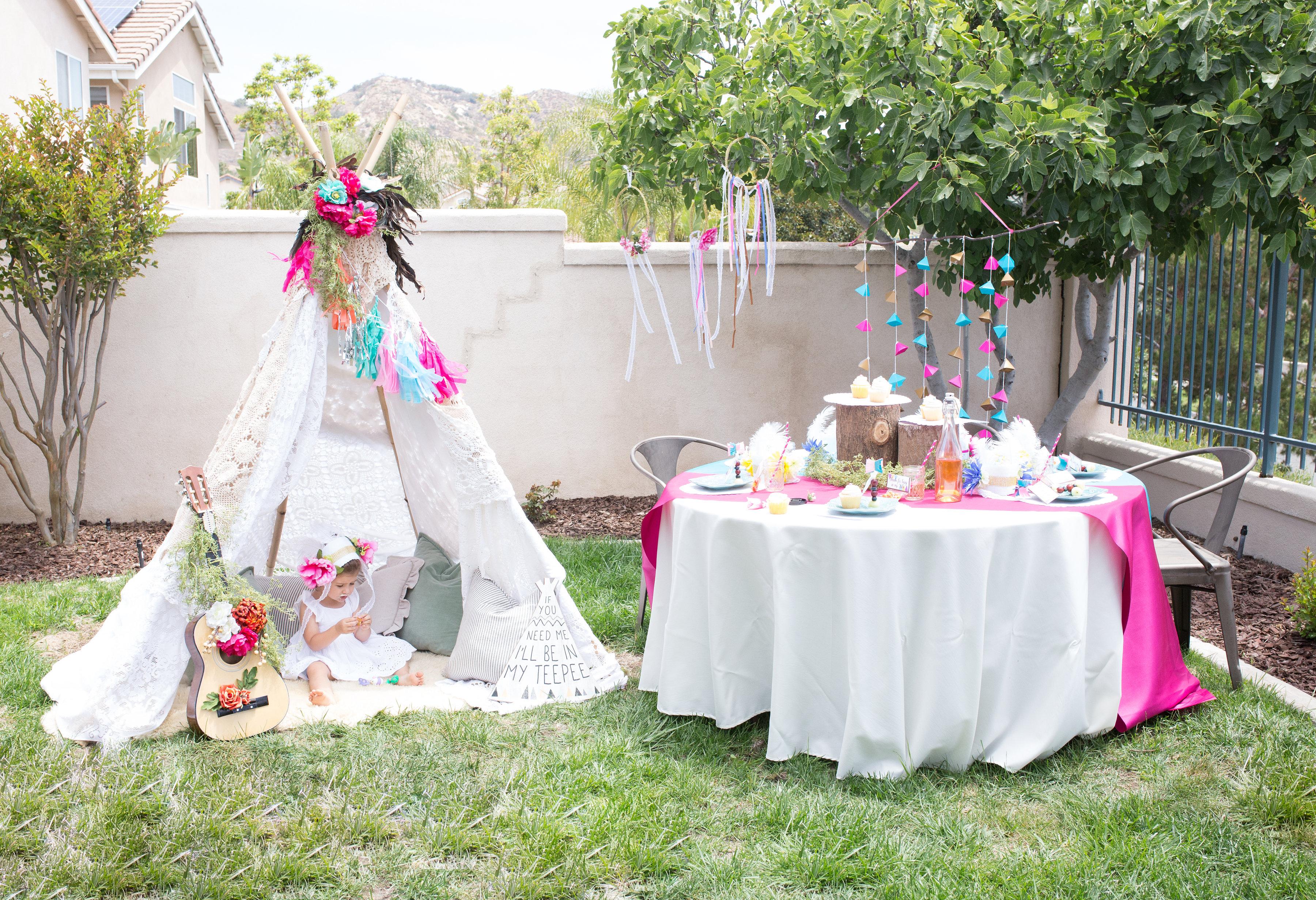 Bohemian Tribal Teepee Birthday Party Ritzy Parties
