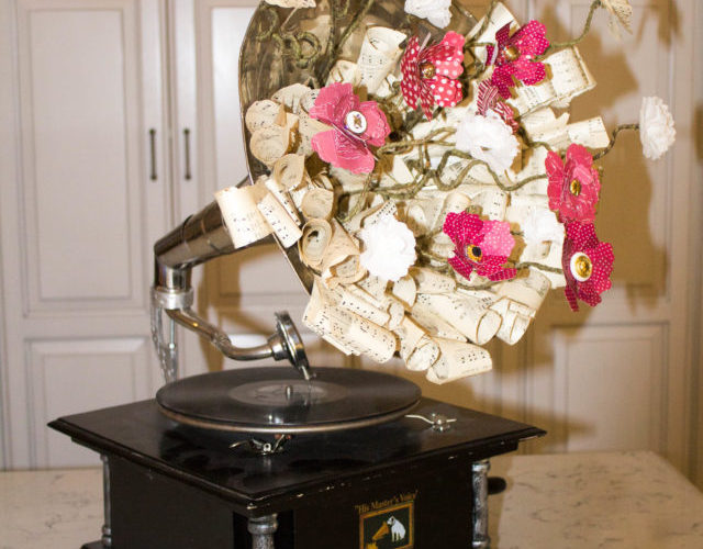 Paper Flower Gramophone Tutorial