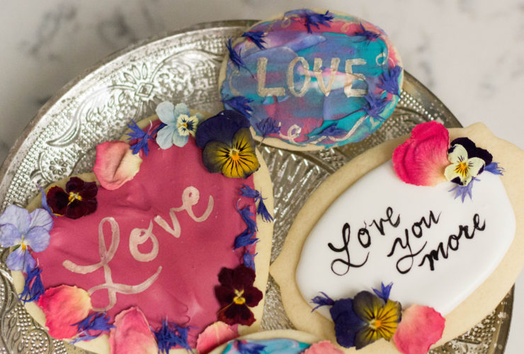 Calligraphy and Metallic Effects on Cookies, Edible Inks from Bakers Party Shop