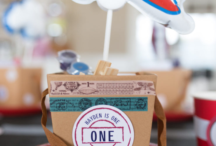 Travel-Themed Favor Boxes