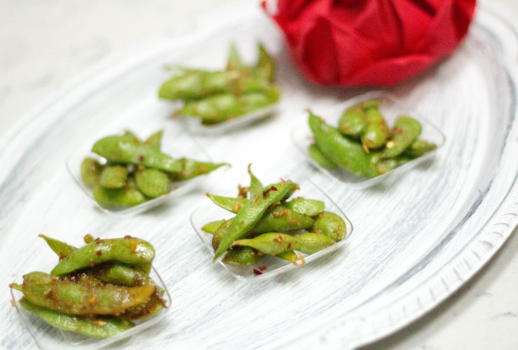 Spicy Garlic Edamame, Healthy and Fresh Appetizer