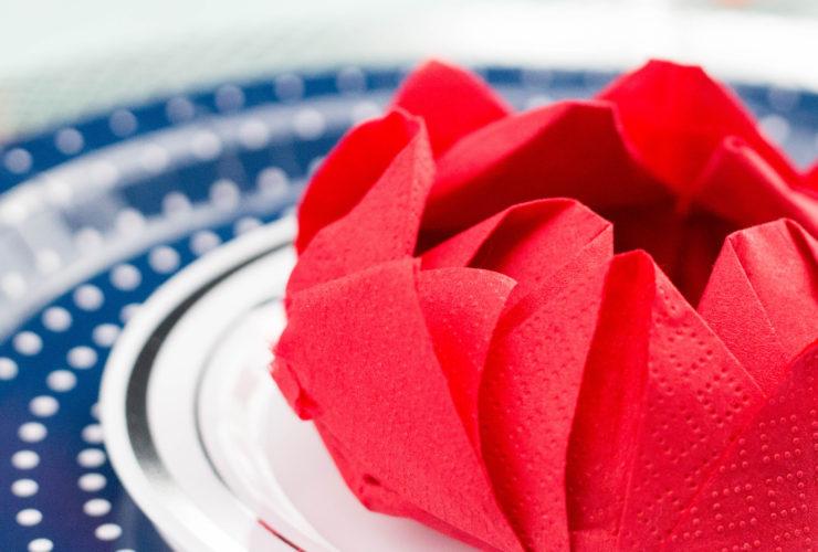 Lotus Flower Paper Napkin Fold