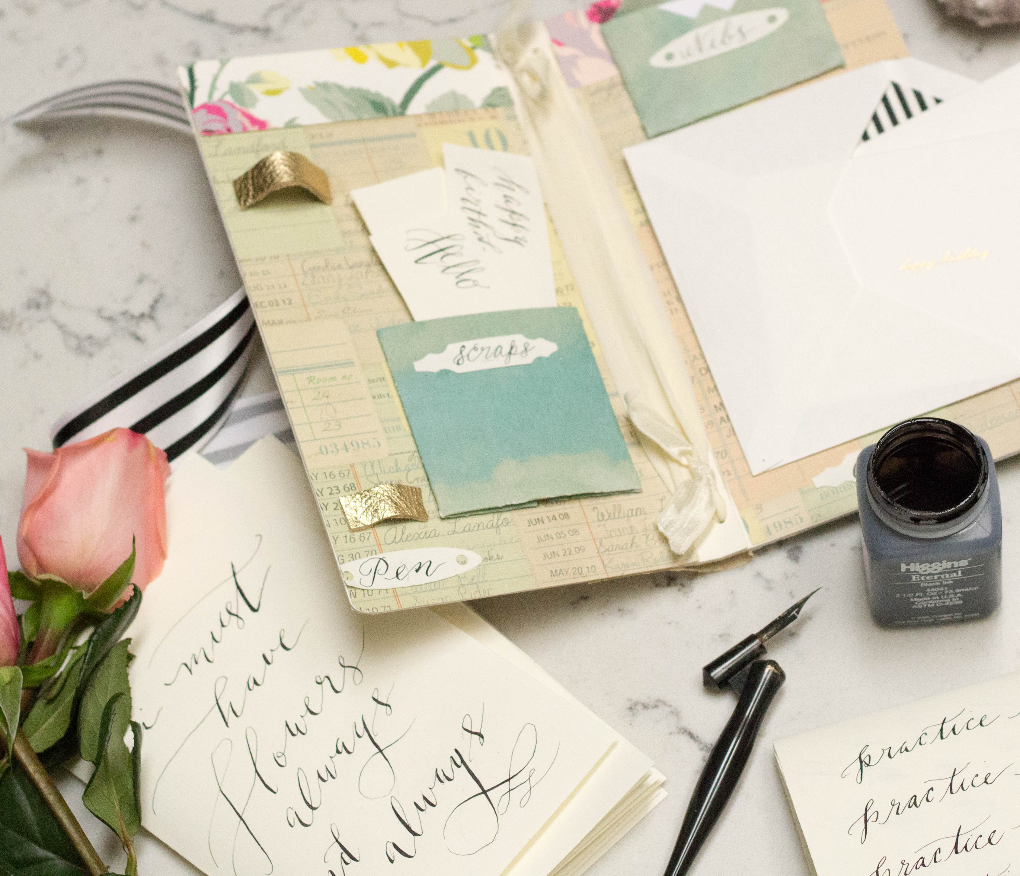 Pretty And Practical Calligraphy Journal Ritzy Parties