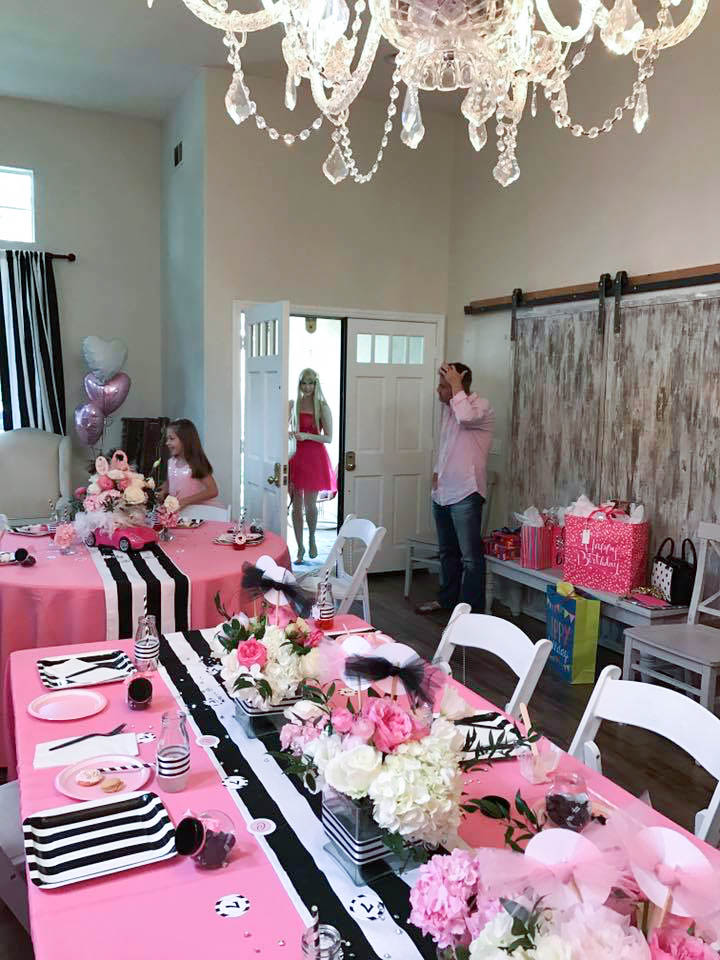 Display Your Florals Down The Center Of Party Table In A Row Atop Black And White Striped Runner Or Place Around Event To Liking
