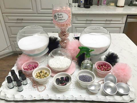 Create A Fun And Fizzy Party Crafting Station For Barbie Glamour Themed Birthday By Measuring Up Some In DIY Bath Bomb