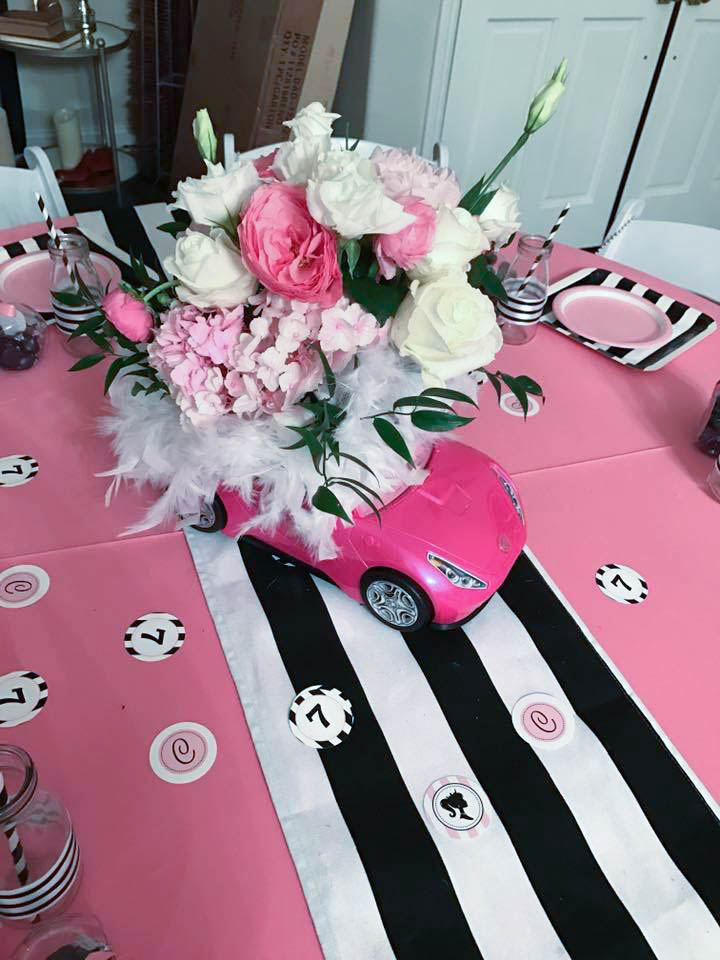 Barbie Themed Floral Decor For An Over The Top Birthday Party