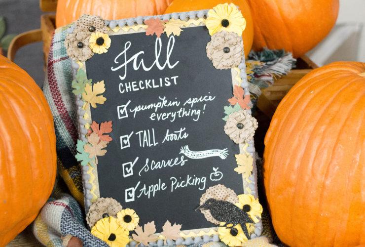 DIY Floral Fall Chalkboard