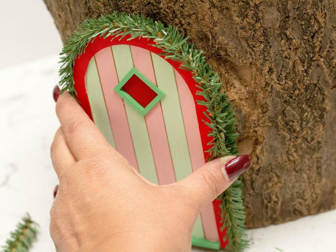Christmas Fairy House Creation Features Tiny Decorations