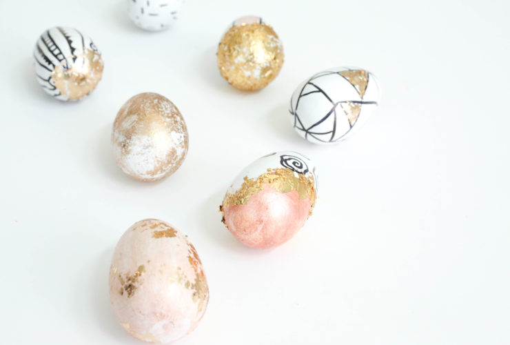 DIY Graphic Eggs with Metallic Accents