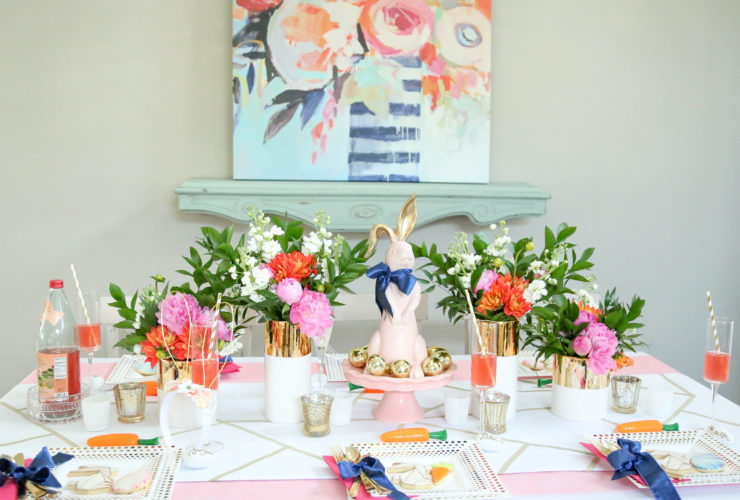Modern Geometric Easter Table
