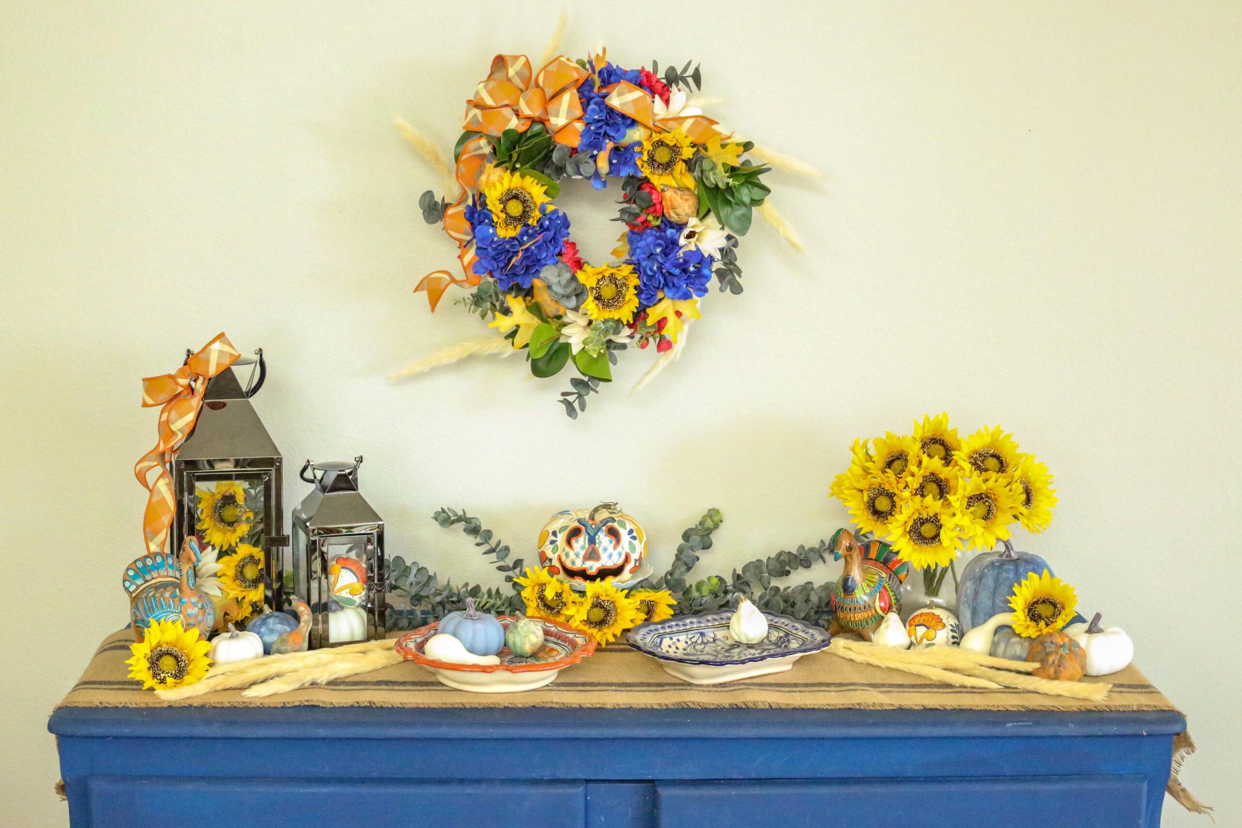 fall decor display