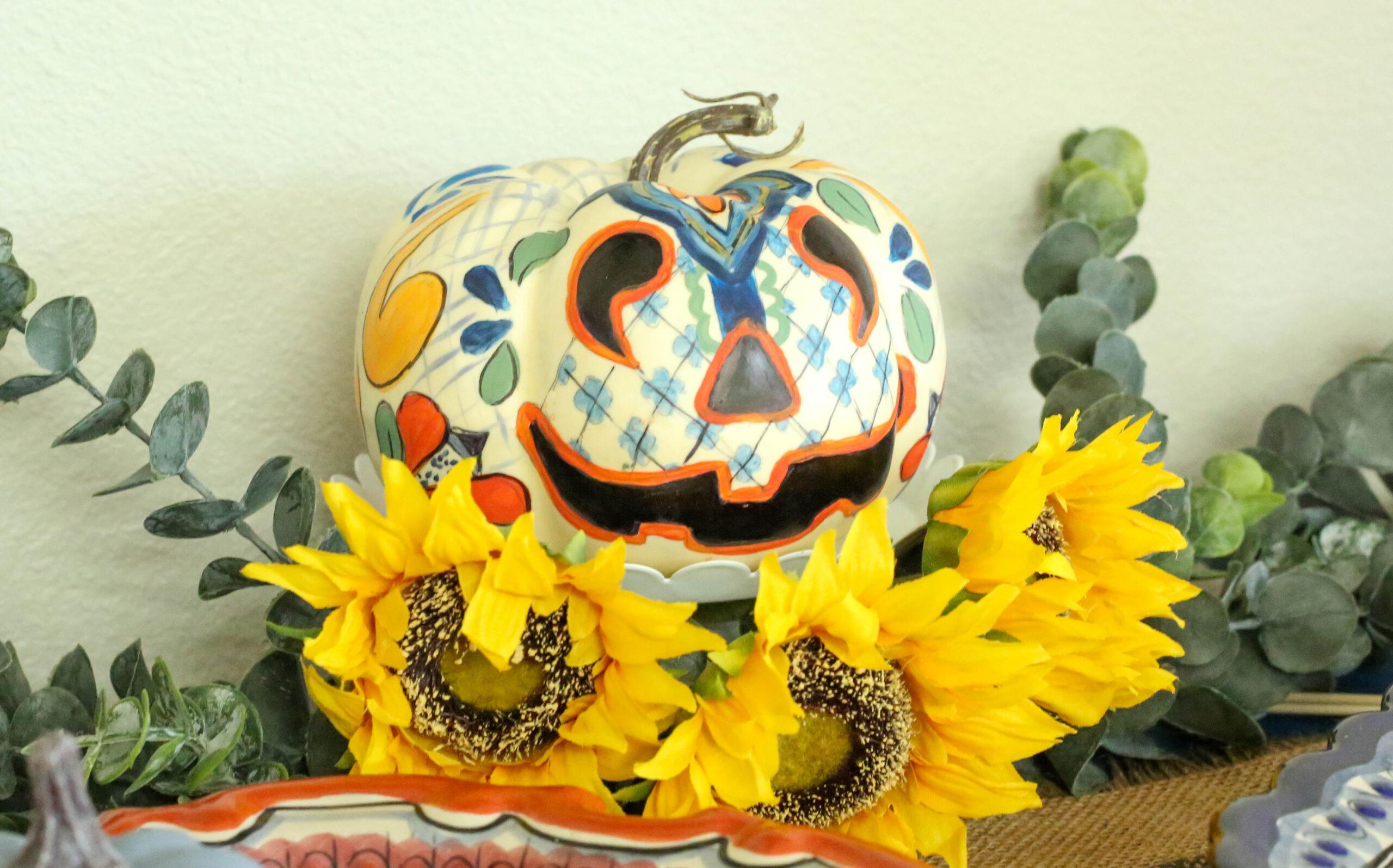 talavera pumpkin
