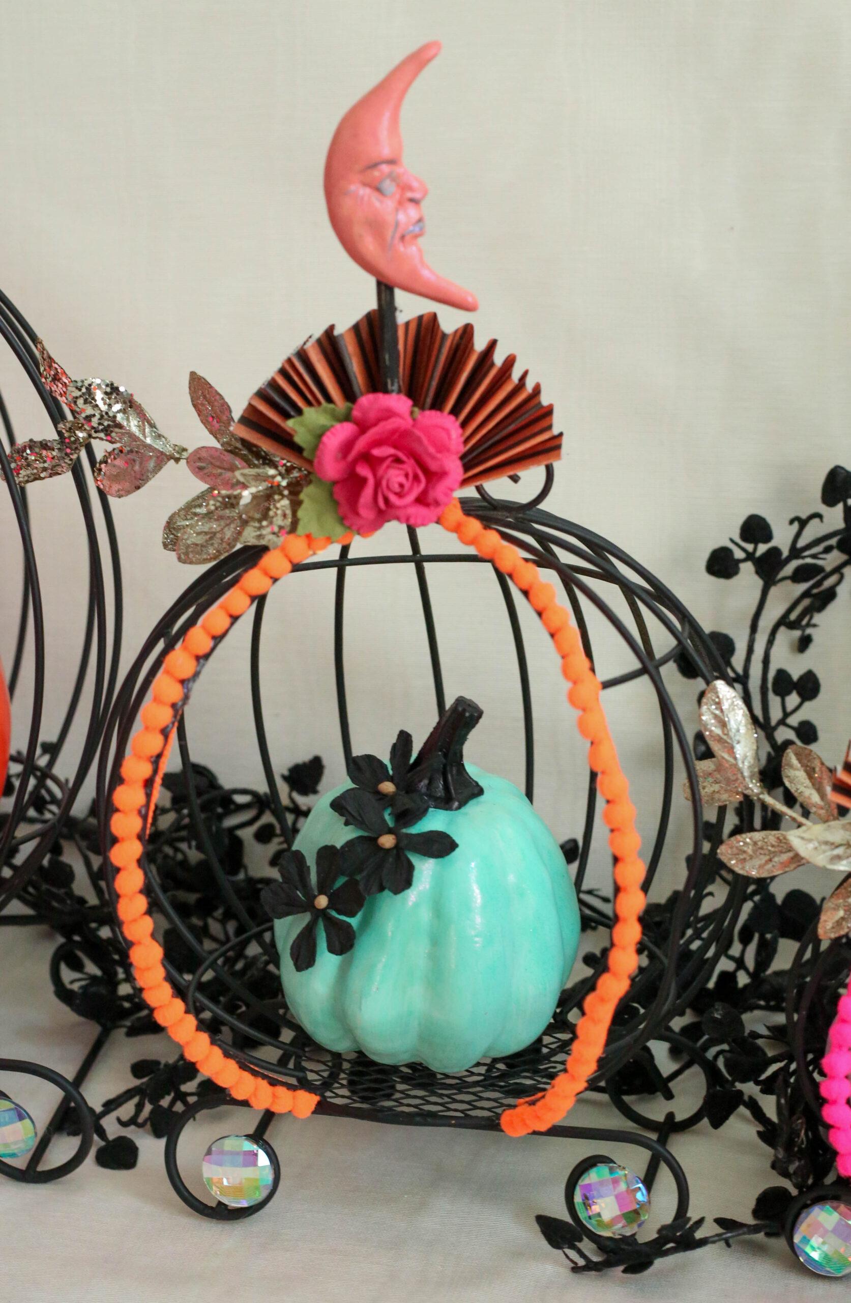 paper flower pumpkin
